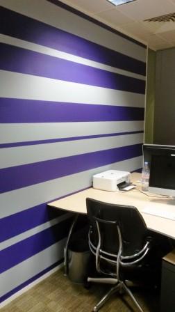 office decorating, Amadeus House, Floral St, London WC2E 9DP