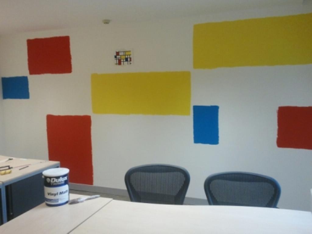 office decorating, Soho Square, London, W1D 3QL